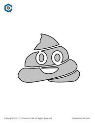 poop emoji jack o lantern stencil